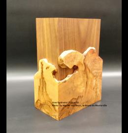 Urne en érable faite à la main - formes pures et naturelles (moyenne) - Modèle L'Éclisse 02