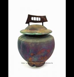 Urne en céramique au fil du temps de style asiatique - Modèle JD11